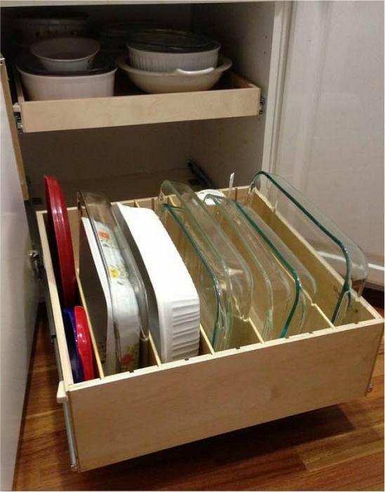 Хранение форм для выпекания.