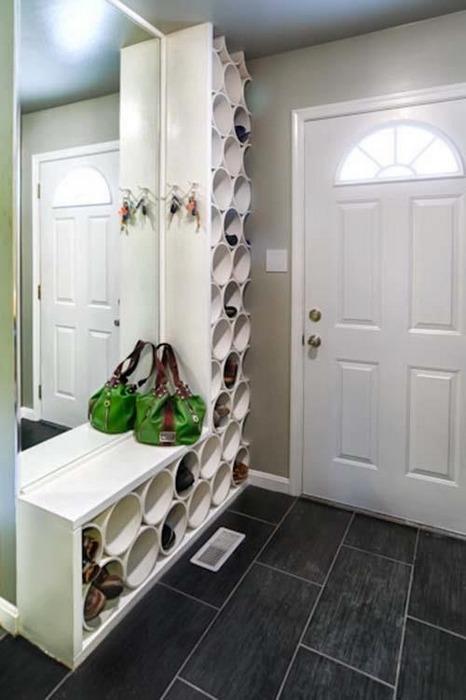 Удобный держатель для обуви.