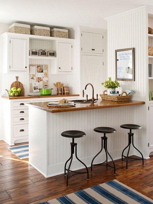 Пространство над кухонными шкафами.