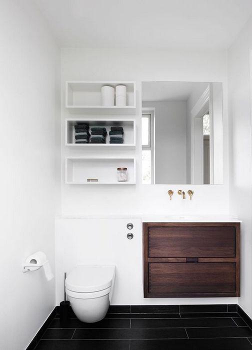 Стильное хранение в туалете.