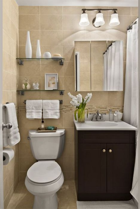 Стильное оформление маленького туалета.