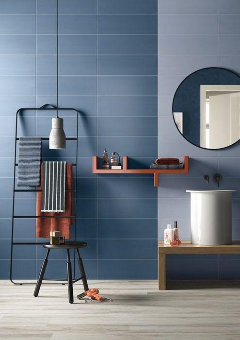 7. Керамогранит в интерьере ванной комнаты.
