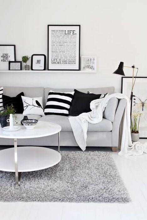 Сочетание чёрного и белого в интерьере.