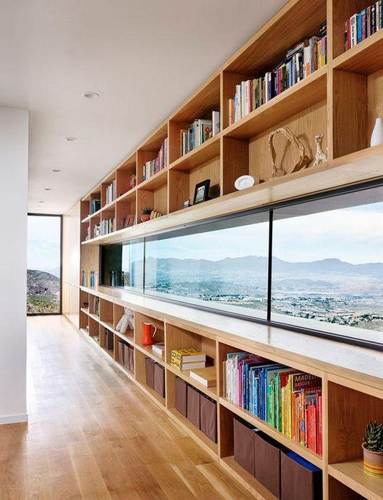 Стильное хранение книг в квартире.