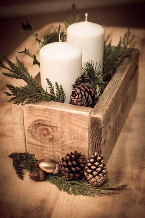 Уютный зимний декор.