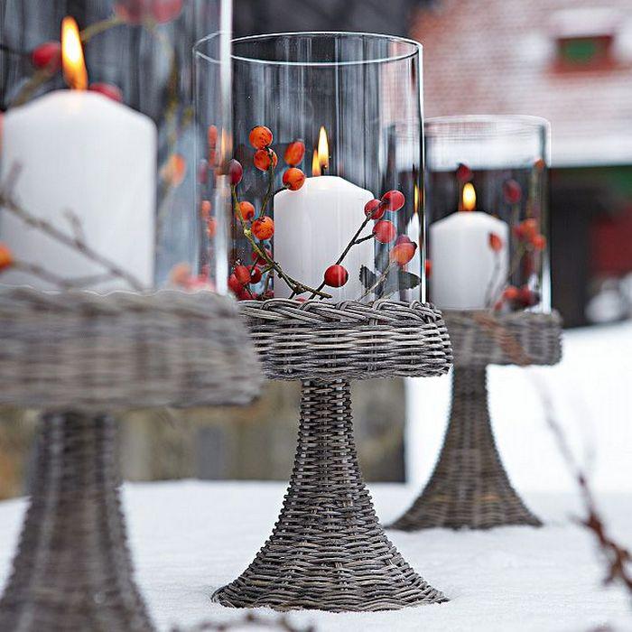 Эффектный зимний декор для двора и дома.