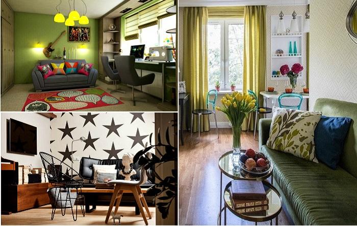 Реальные идеи обустройства гостиной в «хрущевке» или типовой «панельке».