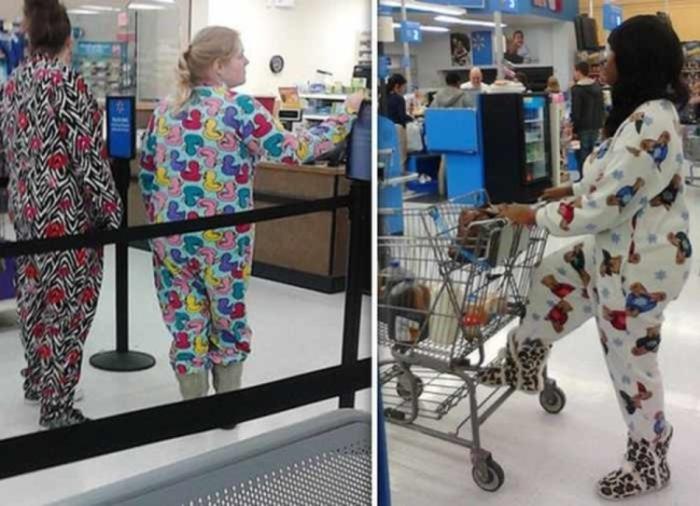 Парад странных нарядов в американском супермаркете. | Фото: Pinterest, Всяко.нет.