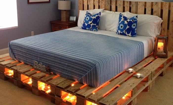 Варианты создания моделей кроватей в стиле лофт.