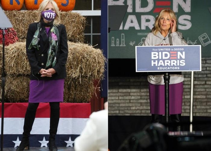 Джилл Байден не боится надевать одну и ту же вещь не единожды.
