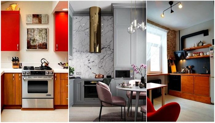 Идеи оформления кухонь от 9 до 12 квадратных метров.