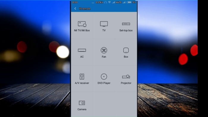 Приложение Xiaomi Mi Remote