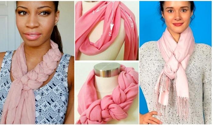 Стильные и разнообразные способы ношения шарфов и платков.