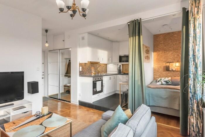 Дизайн квартиры-студии в скандинавском стиле: 3 проекта