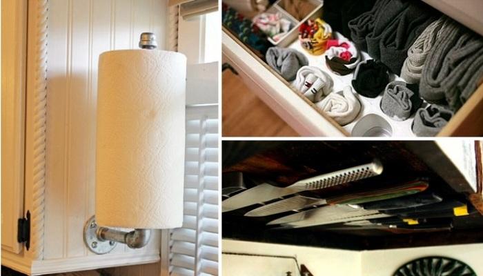 Суперские идеи хранения, которые помогут навести порядок в квартире.