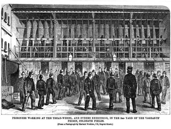 Заключенные работают на шаговой мельнице. | Фото: silpa-mag.com.
