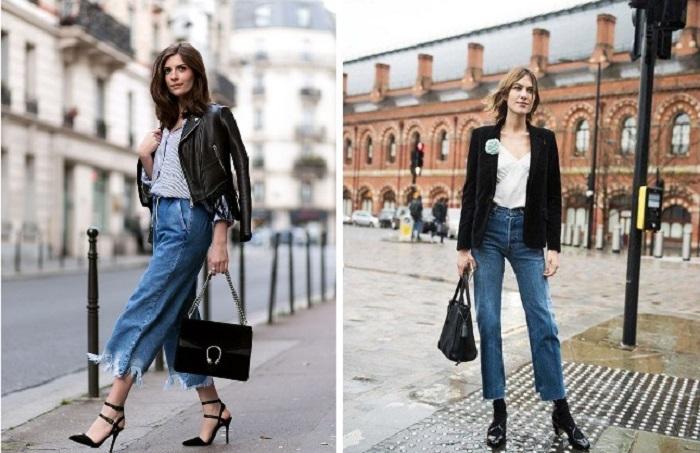 Универсальные джинсовые кюлоты: как и с чем их носить