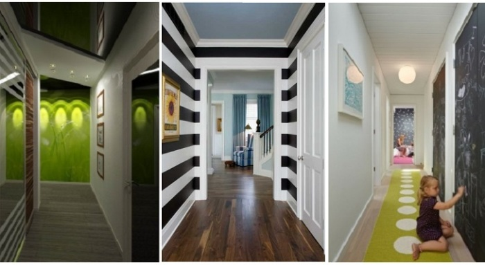 Длинный узкий коридор дизайн интерьер - Дачный журнал