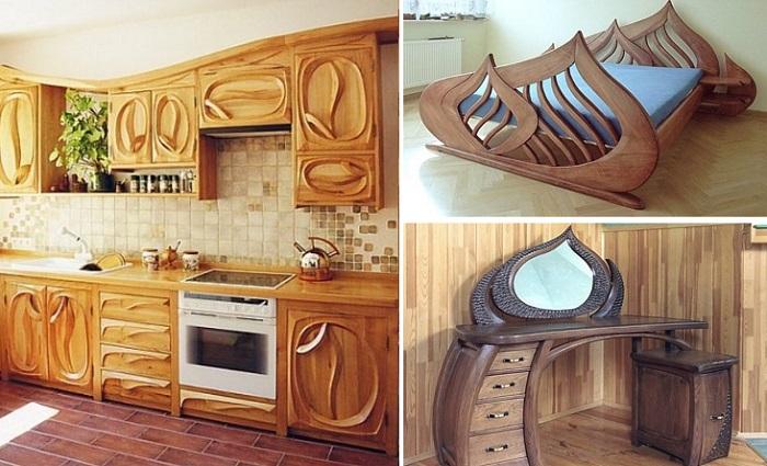 Идеи дизайна из дерева для любого уголка дома или офиса.