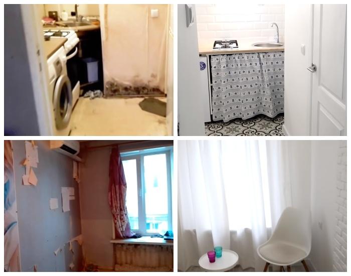 Благодаря своим усилиям и фантазии семейная пара превратила самую маленькую квартиру города в уютное жилье. | Фото: youtube.com.