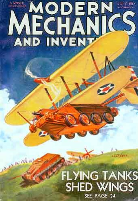 Летающий танк конструкции Кристи в 1930-е годы привлекал внимание не только военных, но и многих обывателей. | Фото: roadabletimes.com.