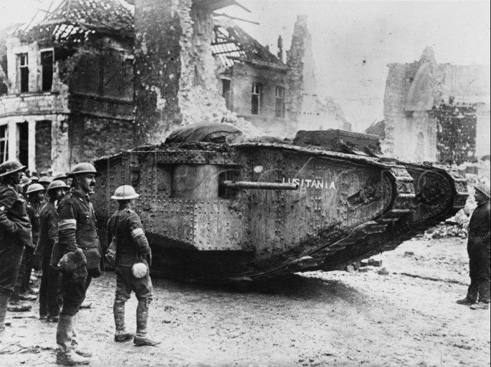 Mark I – самый узнаваемый танк Первой мировой войны. | Фото: tanks-encyclopedia.com.
