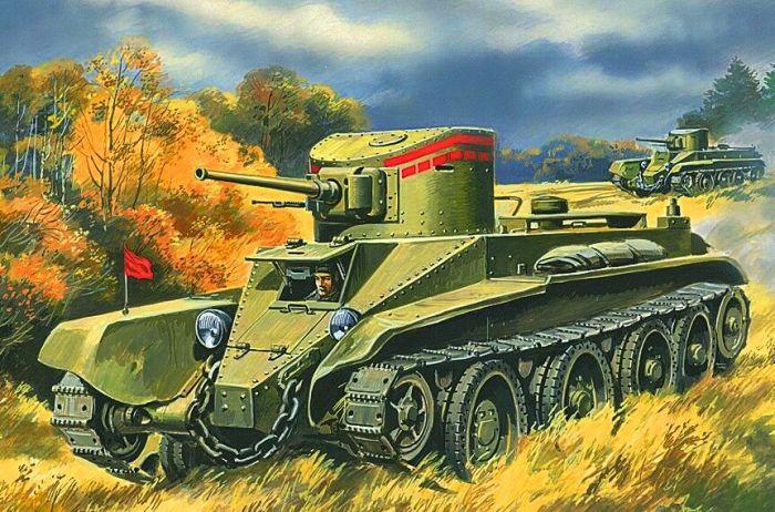 Советский легкий танк БТ-2 был одним из основных танков в довоенном СССР. | Фото: bestmodels.su.