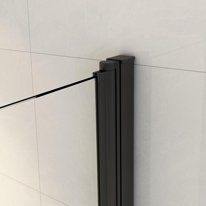 Крепление с прорезиненной вставкой ширмы на ванну Remix black.