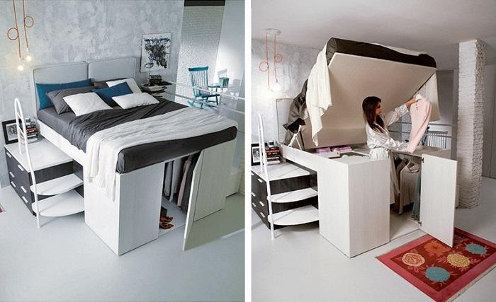 Функциональная мебель для маленьких квартир.
