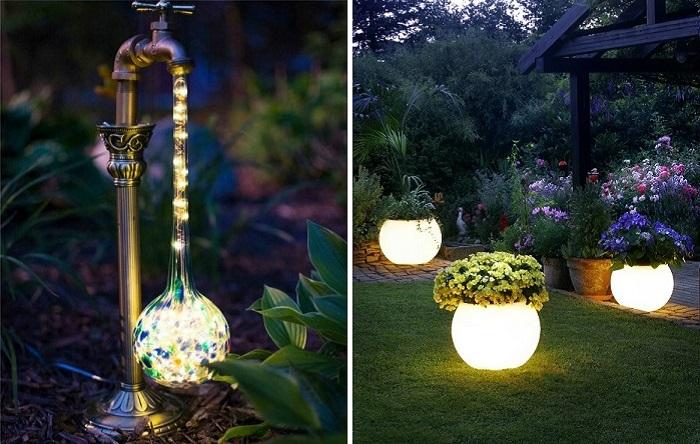 Современные светильники, которые сделают садовый участок уютнее и привлекательнее.