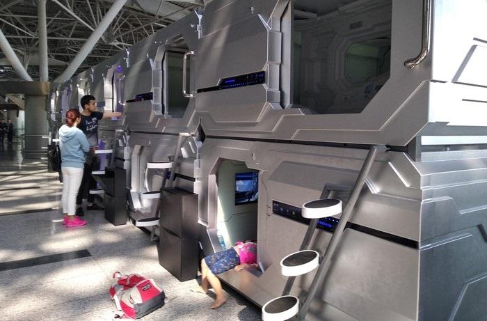 Капсульные места отдыха в аэропортах мира.