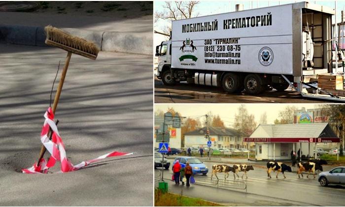 Эпичные ситуации, доказывающих, что в России не заскучаешь.