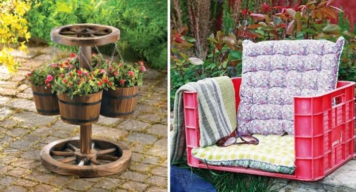 Идеи декора для сада своими руками.