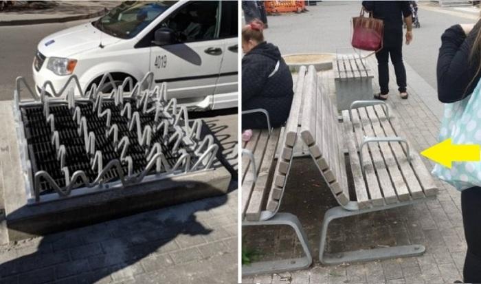 Дизайн против бомжей.