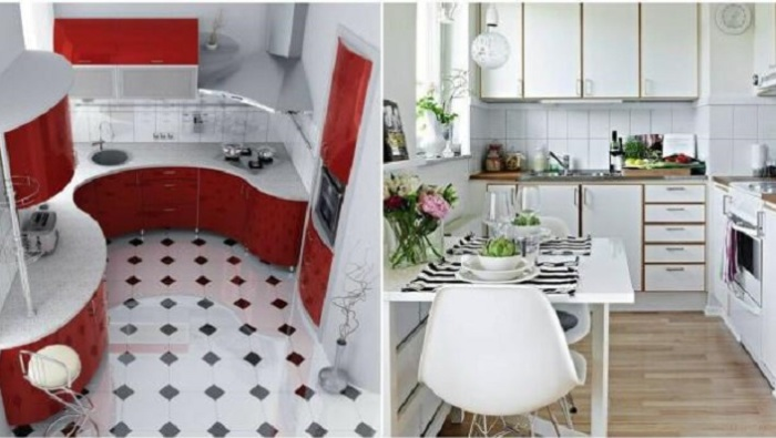 Современный дизайн маленькой кухни.