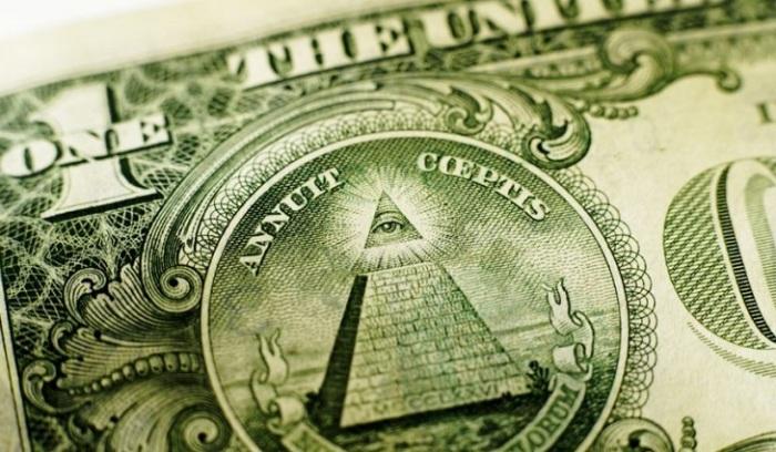 Масонский знак на долларовой купюре.