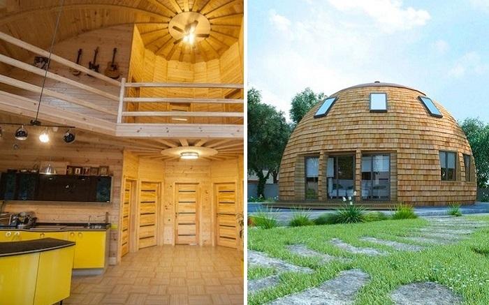 Купольный дом в Подмосковье.