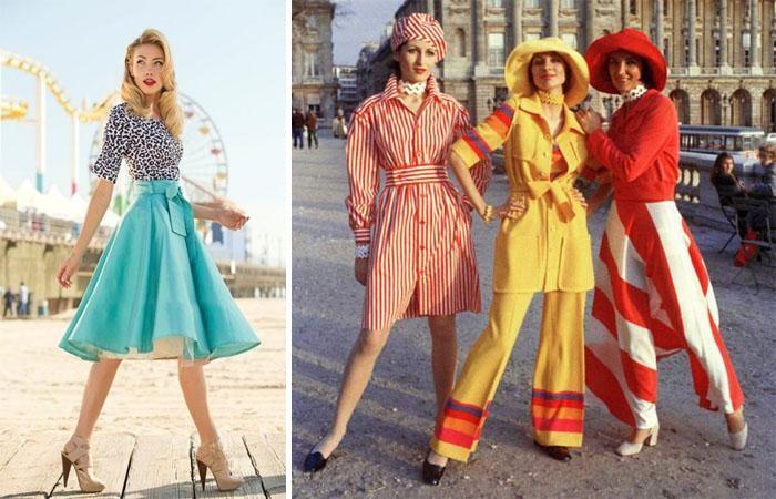 Советские модницы создавали довольно яркие образы.
