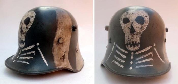 Шлем М17, который использовали в финской армии во время Зимней войны 1939-1940 гг.