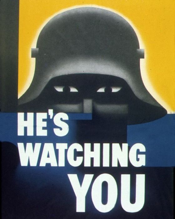 Антифашистский военный плакат. США, 1942 год.
