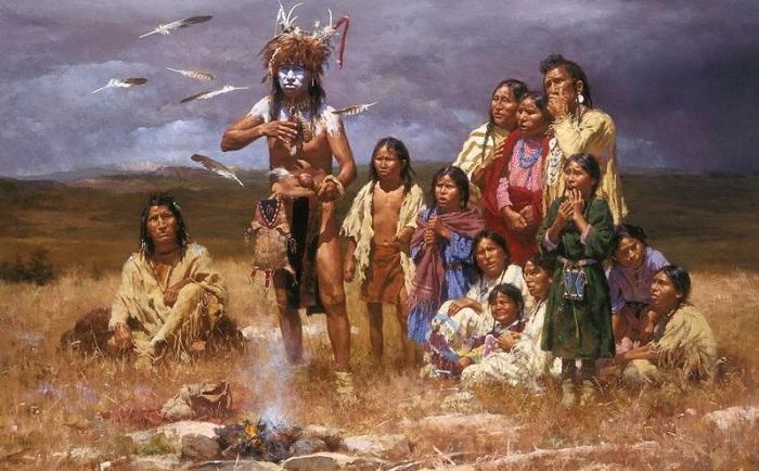 Индейцы — хорошие, а белые — плохие. | Фото: portretsphoto.ru.