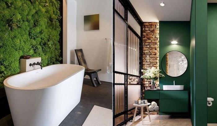 Зелёный в ванной - прекрасный выбор.