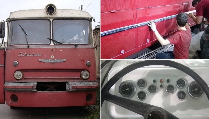Чудесная реставрация старого автобуса.