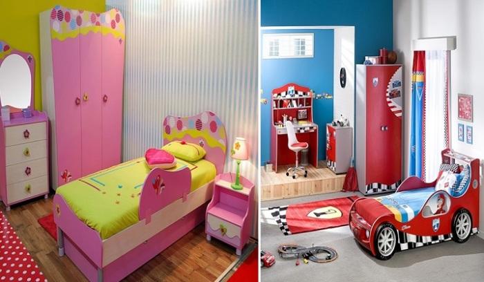 Современные идеи дизайна детской комнаты.