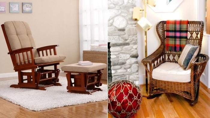 Кресла-качалки в современном интерьере.