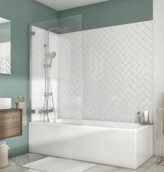 Ширма для ванны Charm Sensea прозрачное стекло.