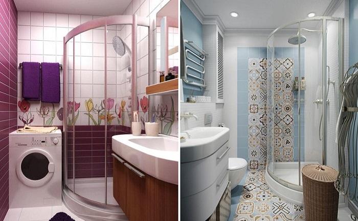 Современные идеи дизайна маленькой ванной.