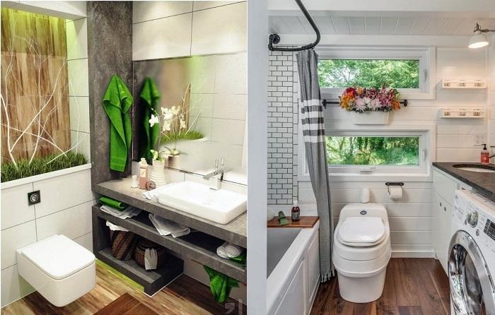 Вдохновляющие примеры дизайна малогабаритной ванной комнаты.