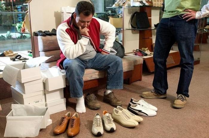 Таблицы определения мужских размеров обуви в России и Европе отличаются. | Фото: i.pinimg.com.