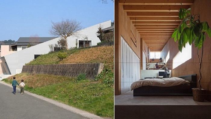 Многоуровневые скользящие дома Японии.